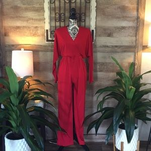Pants - Branka Klarige Red Jumpsuit W/Pockets